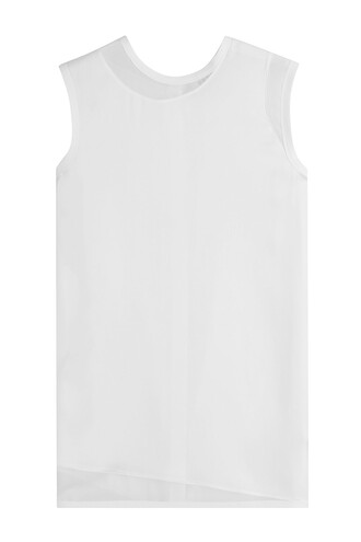 top sleeveless top sleeveless silk white