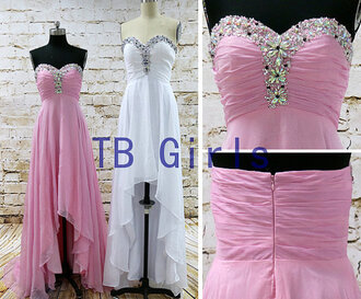 dress high low dress high low prom dress sweetheart prom dresses homecoming dress bridesmaid crystal prom dress girls party dress