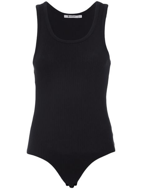 bodysuit women cotton black underwear