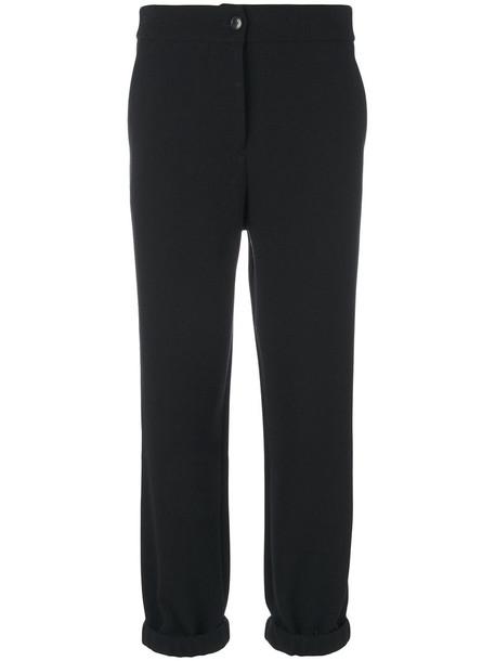 Christian Wijnants women spandex cotton black pants