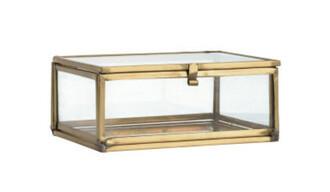 home accessory jewels mirrored box glass box jewelry mirror gold home decor h&m