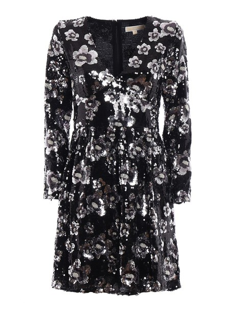 Michael Kors dress embellished dress embellished silver black
