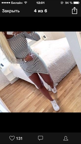 dress black and white striped dress