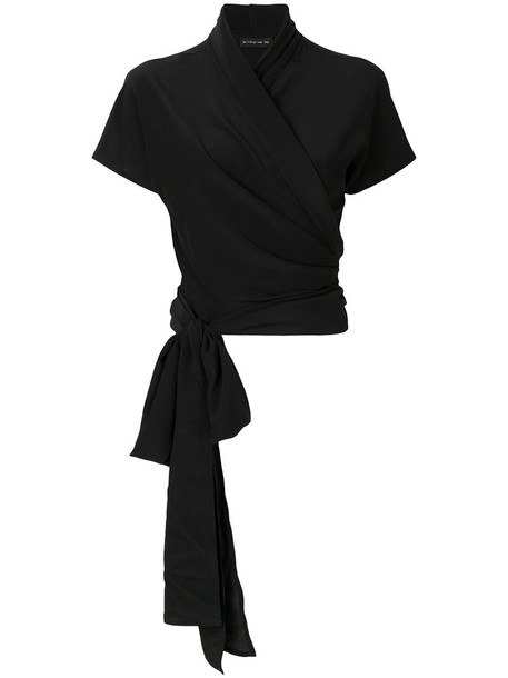 ETRO blouse women black silk top