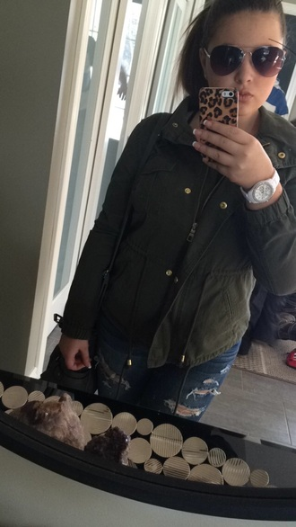 coat green jacket