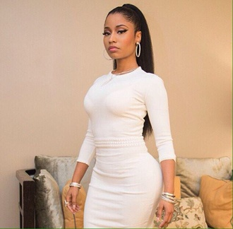 dress nicki minaj white dress