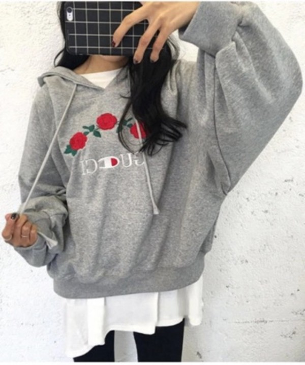 Sweater tumblr tumblr outfit grey grey sweater hoodie oversized dope oversized sweater ...