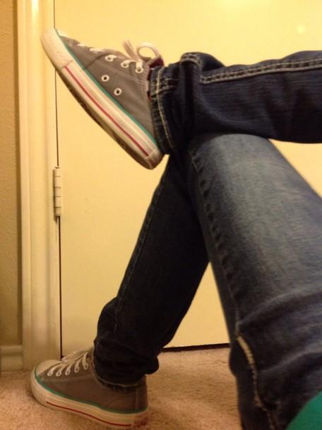 shoes converse grey