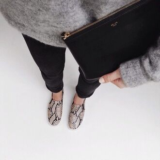 shoes flats loafers snake print snake print shoes boat shoes minimalist