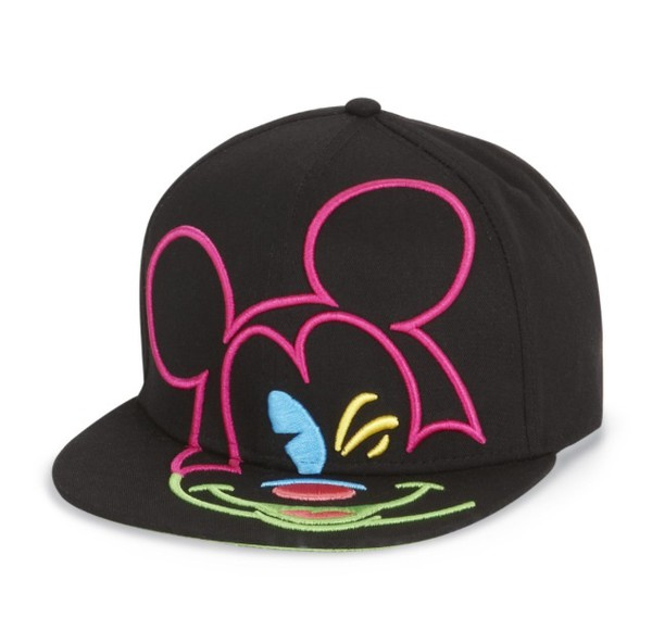 hat mickey mouse neon black style