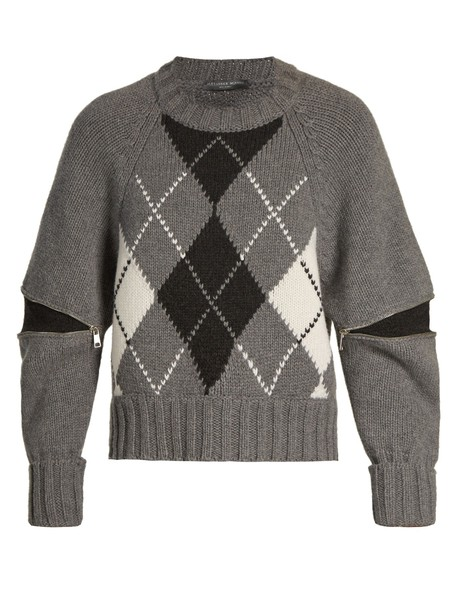 Alexander Mcqueen sweater knit grey