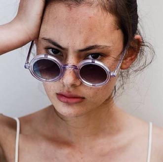 sunglasses pastel lilac round sunglasses summer accessories