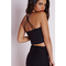 Missguided cross back strappy crop top black from missguided us | shapeshop