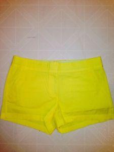 Womens JCrew Buttery Twill 3 inch Chino Shorts Size 10 Bright Yellow | eBay