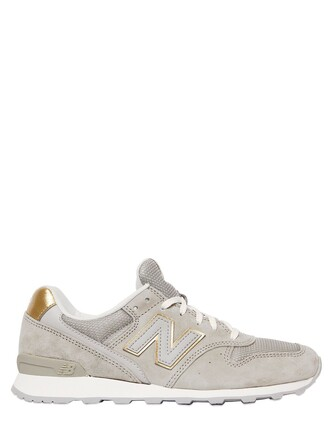 mesh sneakers suede beige shoes