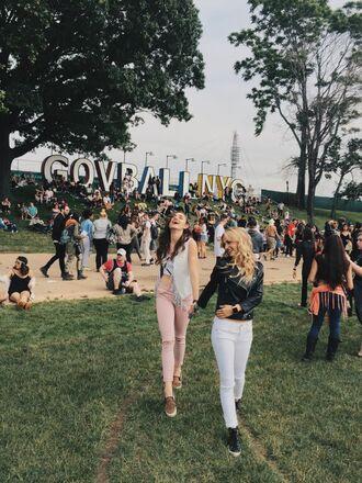 livin like larz blogger jacket jeans shoes festival