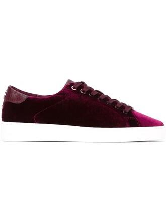 women sneakers lace leather cotton velvet purple pink shoes