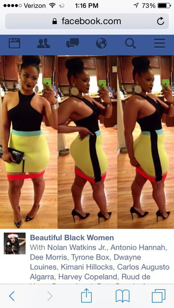 dress fashion swag colorful colorful curvy