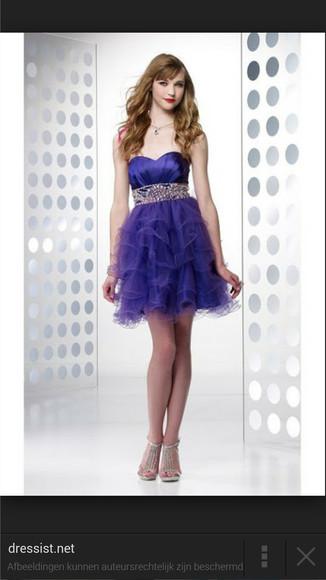 purple dress short tulle dress