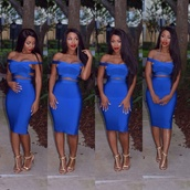 bandage dress,sexy dress,blue dress,blue,bodycon dress,celebrity style,celebboutique.com,dress