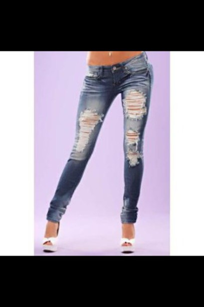 jeans ripped jeans style hot pants fashion casual girl