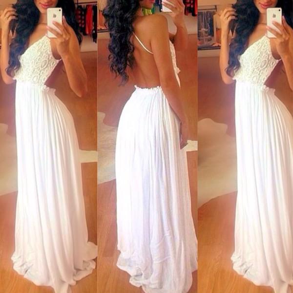 white dress maxi dress luxury dress floor length dress white