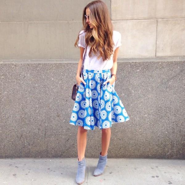 something navy skirt