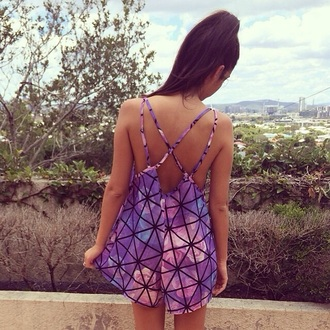 romper geometric style fashion