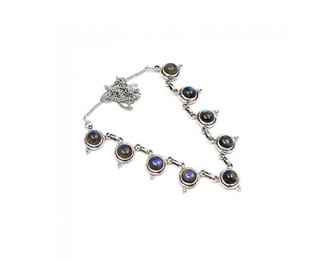 Genuine 925 sterling silver Labradorite Necklace