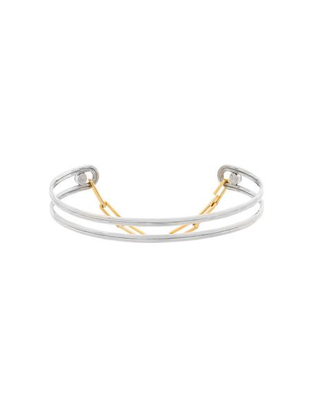 women necklace choker necklace gold silver grey metallic jewels