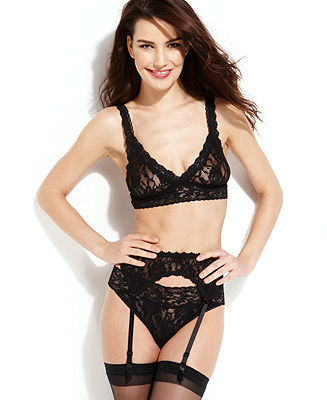 Hanky Panky Signature Lace Bralette, After Midnight Garter Belt and Signature Lace Original Rise Thong - Shop All Lingerie - Women - Macy's