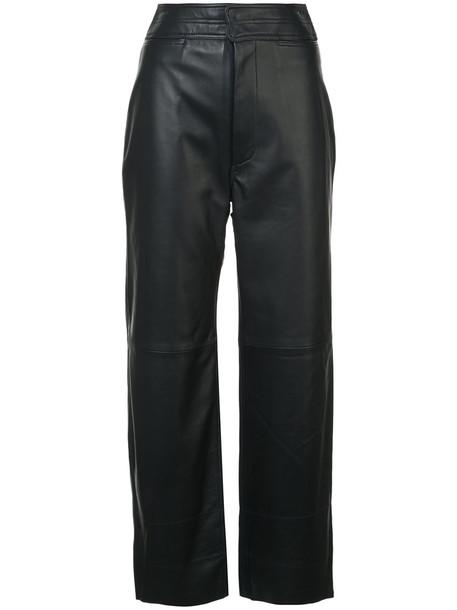 Apiece Apart high women spandex leather blue pants