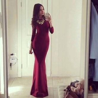dress burgundy formal dress