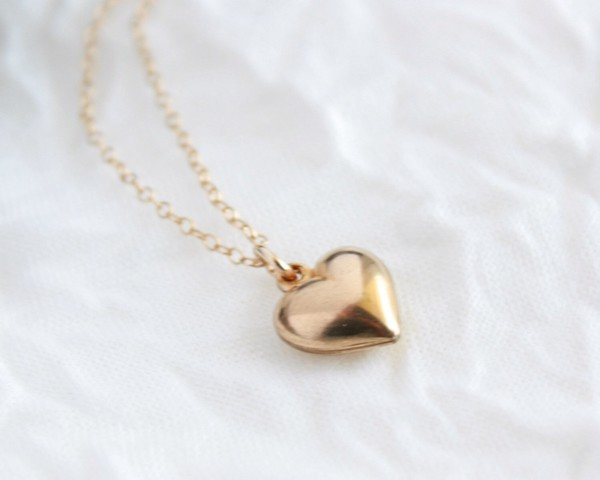 Dainty classic tiny gold puffy heart necklace classic sweet dainty classic tiny gold puffy heart necklace classic sweet heart necklace aloadofball Gallery