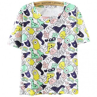 t-shirt funny cool fashion trendy summer colorful monsters teenagers boogzel