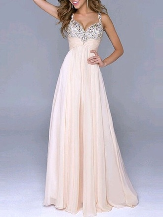 prom prom dress long prom dress rhinestones rhinestones dress homecoming bridesmaid wedding clothes champagne dress off-white chiffon dress winter formal dress