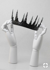 hair accessory,crown,prom,black,evil queen