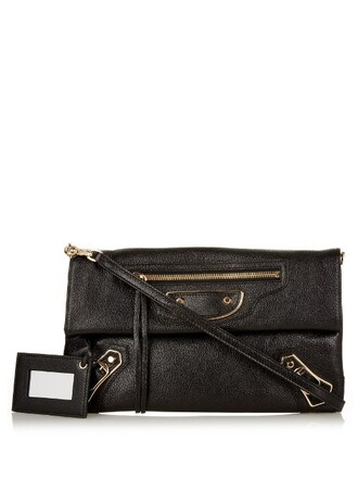 envelope clutch metallic classic clutch leather black bag
