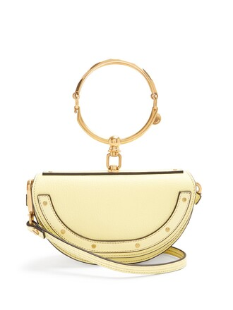 leather clutch clutch leather light yellow bag