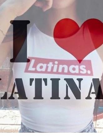 shirt latinas crop top cropped tank top top latina latinas.