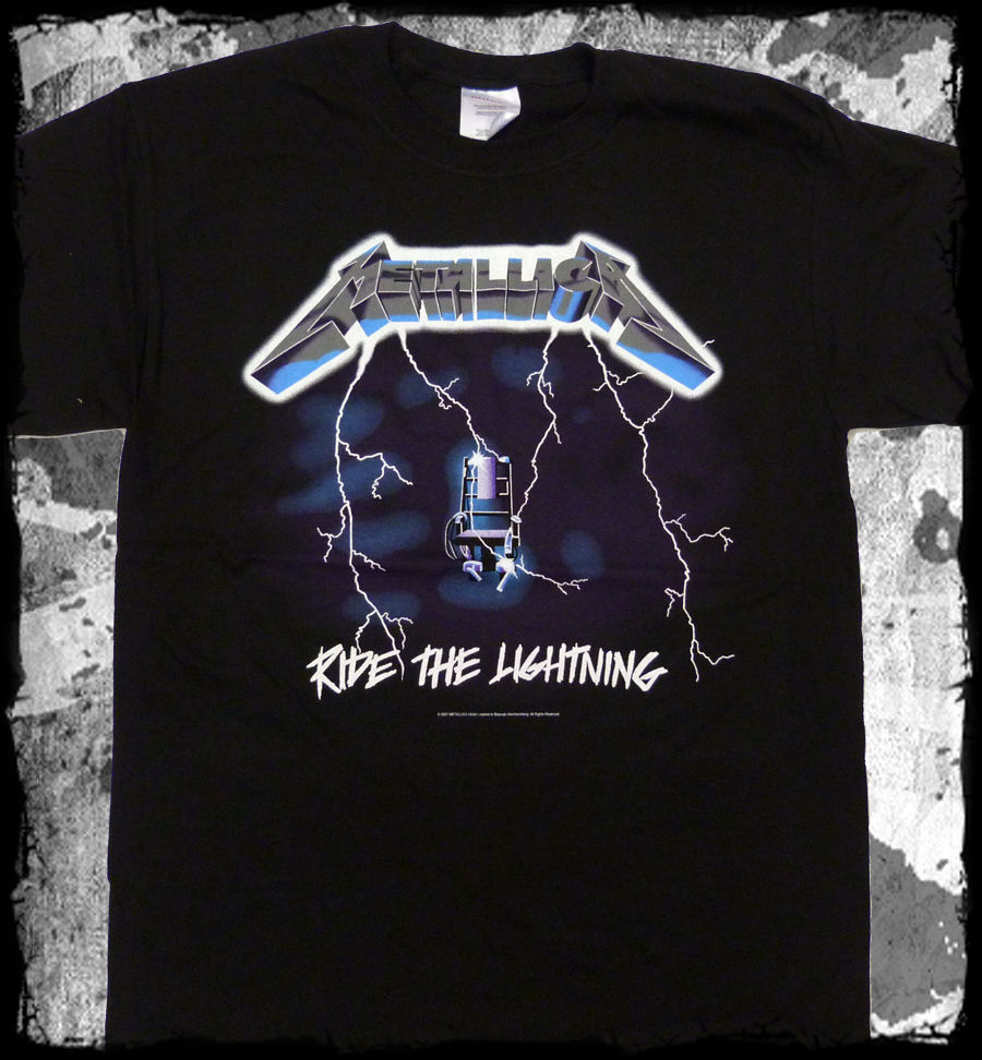 Metallica - Ride The Lightning t-shirt - Official - FAST SHIP