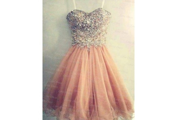 Womens Peach Dress