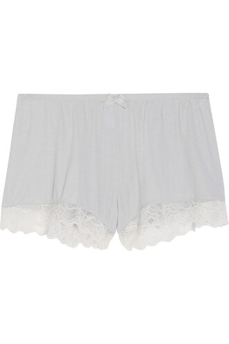 shorts pajama shorts lace blue