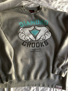Diamond supply x crooks and castles diamond crooks crew sweatshirt