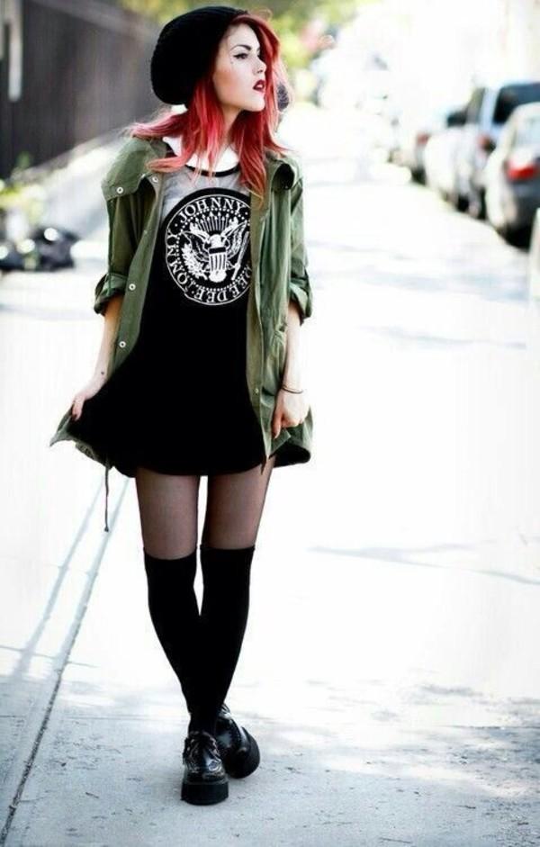 Aliexpress.com  Buy TopStyle LY8047 New 2014 Summer Women Punk Ramones Letter Print Dress Sexy ...