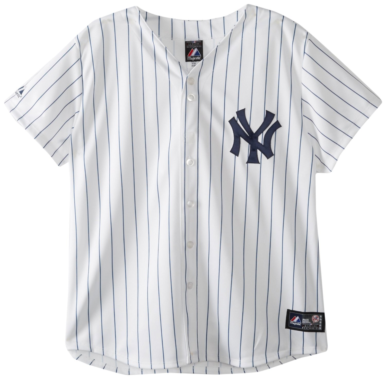 Amazon.com : MLB New York Yankees Home Replica Baseball Women's Jersey, White/Navy : Sports Fan Jerseys : Sports & Outdoors