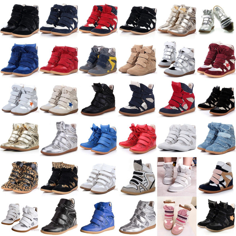 YXF01 Ankle Women's High Top Velcro Strap Wedge Hidden Heel Sneaker Boots Shoes | eBay