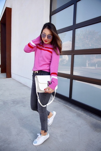 blogger shoes posh classy mom – a lifestyle blog by sheree bag belt sunglasses sweater pink sweater shoulder bag sneakers