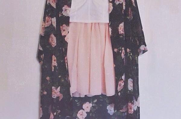 blouse kimono skirt