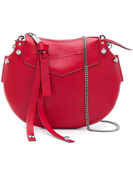 Jimmy Choo mini women bag shoulder bag leather red